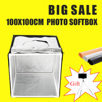 100x100CM Led Light Tent Light BOX Photo Softbox Studio Portable Photography Studio Shooting Lightbox Kit With Free Gift