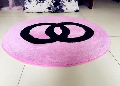 60x60 cm/70x70 cm/80x80 cm créatif chaud rose/noir chambre tapis salon sol tapis rose chaise tapis antidérapant décoration de la maison - 4