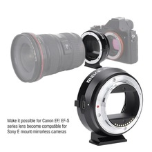 MEIKE EF NEX Auto Focus Electronic Adapter for Canon EF EFS lens to Sony Full frame E Mount A9 A7M3 A7R3 A7R2 A6500 A6400 a6300