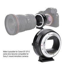 MEIKE EF NEX אוטומטי פוקוס אלקטרוני מתאם עבור Canon EF EFS Sony מלא מסגרת E הר A9 A7M3 A7R3 a7R2 A6500 A6400 a6300