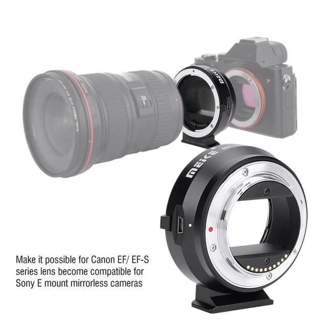 Электронный адаптер MEIKE EF NEX для Canon EF EFS, адаптер с автофокусом для Sony с полной рамкой и креплением E A9 A7M3 A7R3 A7R2 A6500 A6400 a6300