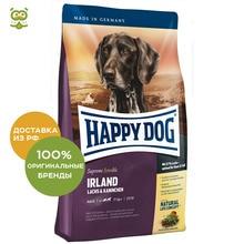 Happy Dog Supreme Sensible Irland корм для взрослых собак всех пород с чувствительной кожей, Лосось и кролик, 4 кг.