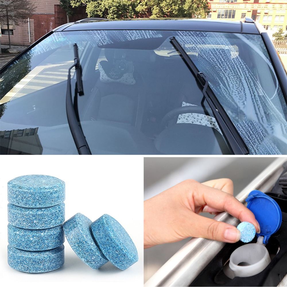 HLEST 1pcs 4L Effervescent Spray Solid Wiper Fine Window Windshield Glass Cleaner