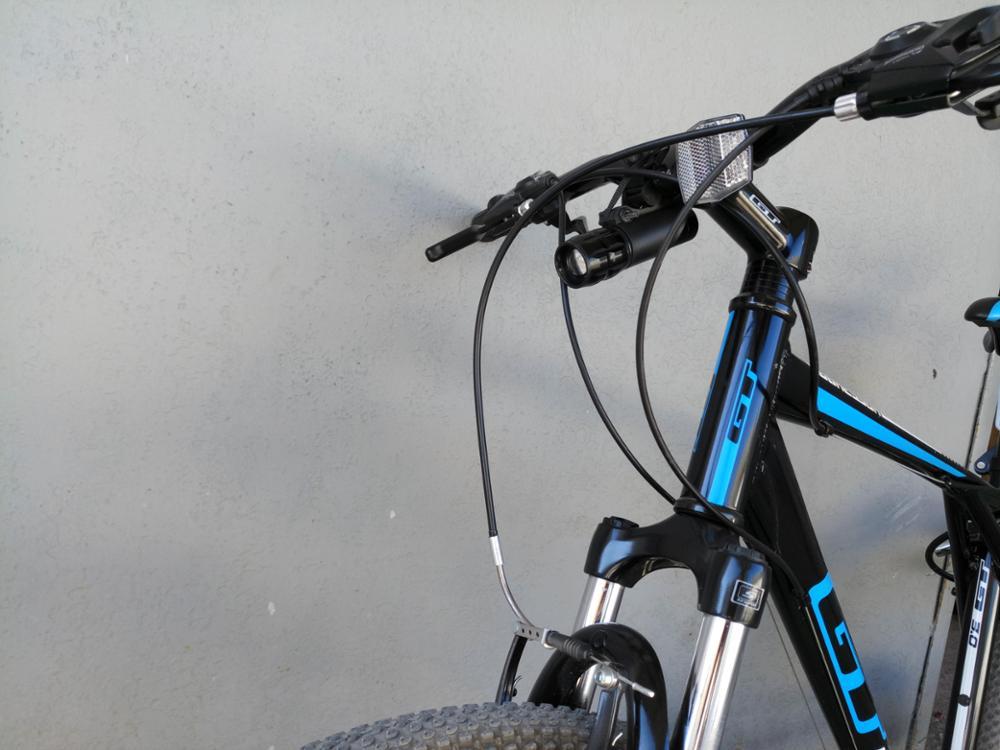 FTW велосипед свет 7 ватт 2000 люмен 3 режима велосипед Q5 светодиодный свет велосипед свет лампы Передняя факел Водонепроницаемый лампа + Факел держатель BL000