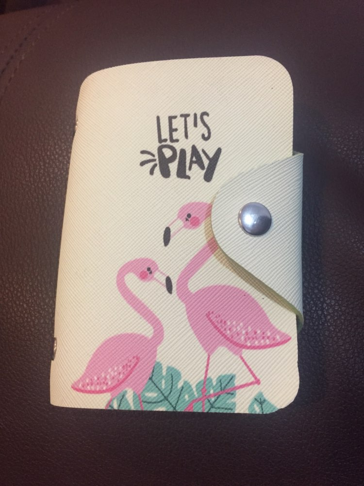 Leather Credit Card Holder Card Case Student Cute Cartoon ID Cards Women Wallet Passport Business Card Holder Book Protector photo review