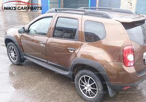 Image 5 - Set wheel arches and moldings for Renault / Dacia Duster 2010 2017 1 set / 12p plastic ABS protection trim covers car styling
