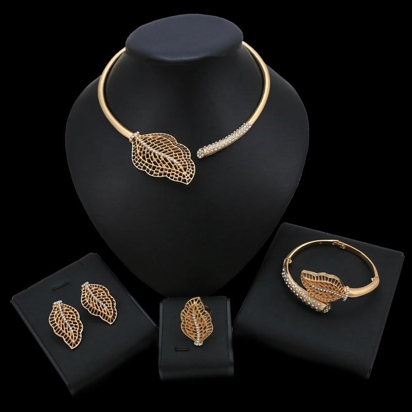 Yulaili bijoux bijoux de fantaisie ensembles collier noir et or ensemble bijoux contemporains
