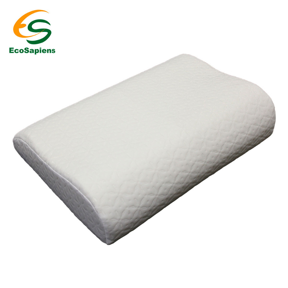 Soft Memory Foam Neck Sleeping Pillow Massager Fiber Slow Rebound Foam Travel Home Bedding Orthopedic Pillow Memory (50*32*10/8)