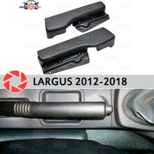 Передняя отделка сиденья для Lada Largus 2012-2018 пластиковые ABS внутренние боковые передние чехлы для сидений интерьерные аксессуары для стайлинга автомобилей украшения