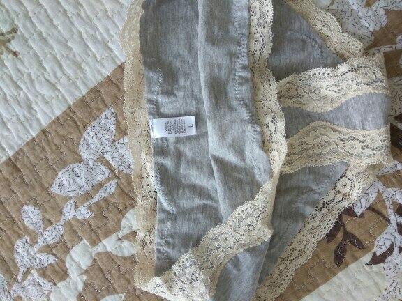 Underwear series solid color brief thin lave cotton bra set wireless underwear bra set