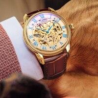 Männer Uhr Gold Automatische Uhr Fall Luxus Marke Mechanische Wasserdichte Uhr Berühmte Männer Uhr 2018 Mechanische Uhren Uhren -