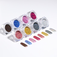 1 Box Holographic Laser Powder Shining Starry Manicure Nail Art Glitter Gradient Sugar Dust for Decorations