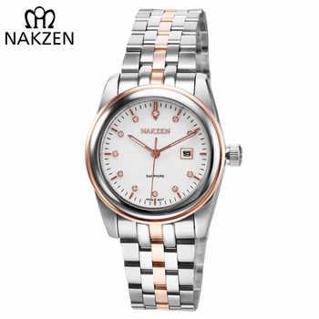 NAKZEN Womens Gold Luxury Quartz Diamond Watch Calendar Display Women Full Steel Wrist Watch Female Clock relogio masculino - DISCOUNT ITEM  50% OFF All Category