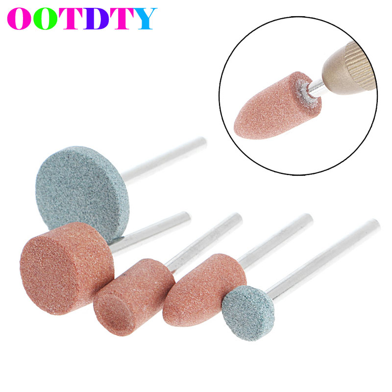 5Pcs/lot 3mm Shank Wheel Head Grinding Polishing Electric Grinder Power Tools APR21_10