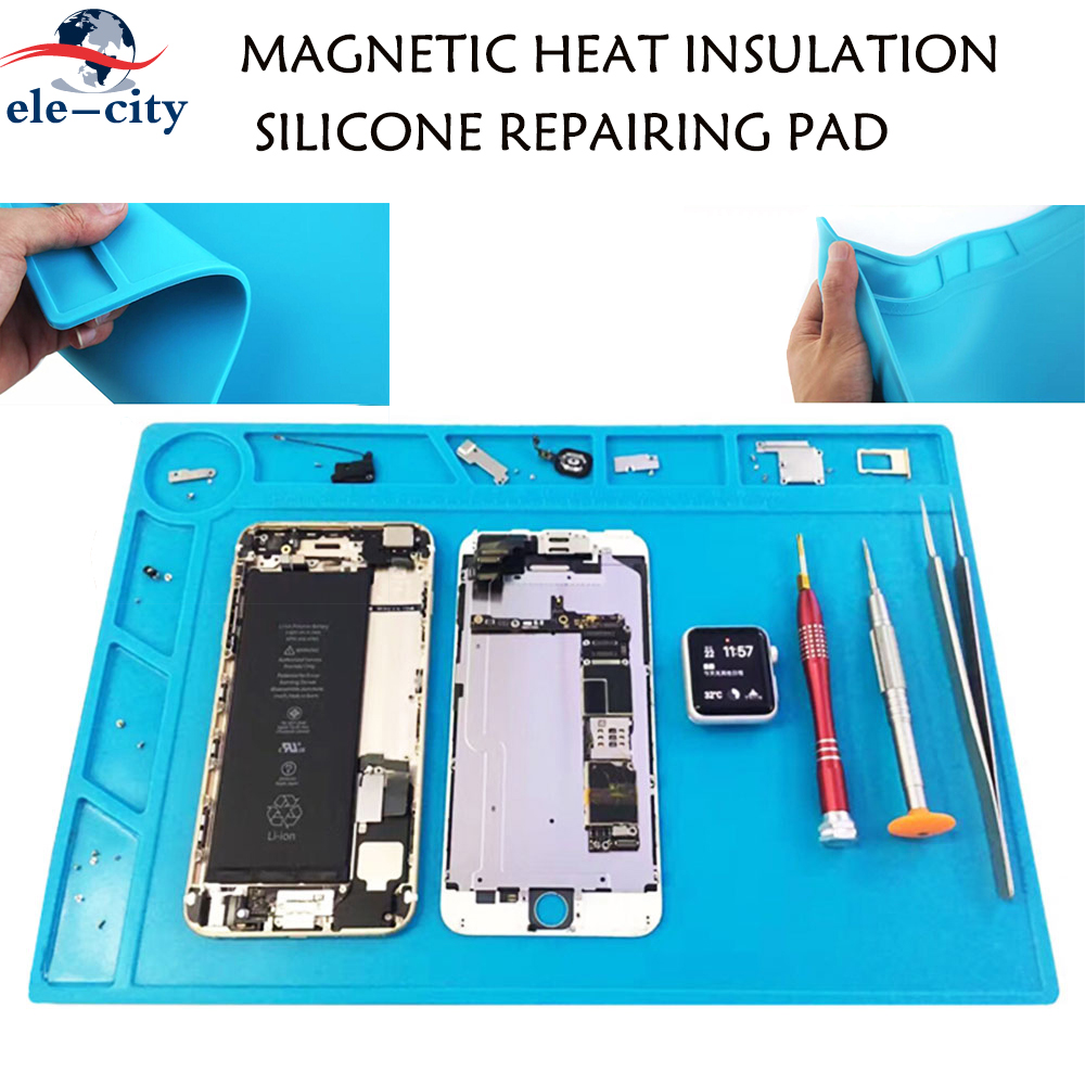 S-130 Isolamento Térmico Esteira de Mesa Almofada de Silicone Seção Magnética Ferramentas de Reparo do Telefone de Solda BGA para Estação de Reparo de Solda BGA