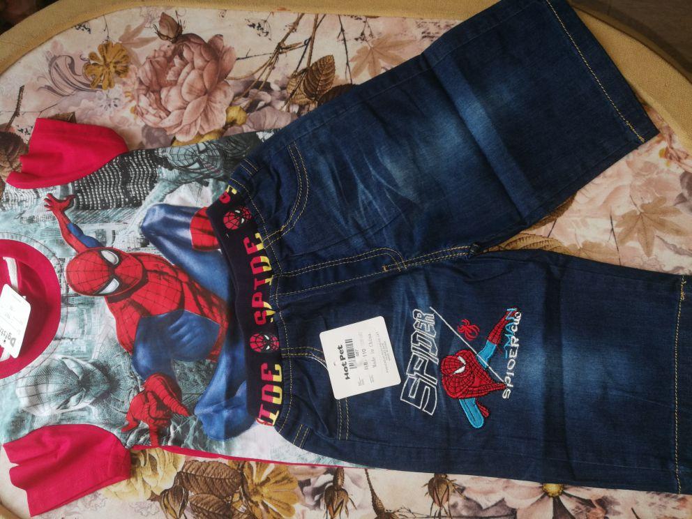 103d82c19d children summer shirt jeans shorts set toddler boys superman ...