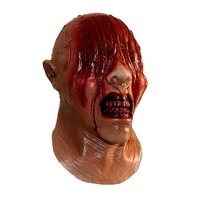 Latex Zombie Bloody Mask Scary See No Evil Mask Halloween Party Realistic Mask Fancy Dress