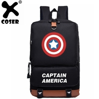 XCOSER Captain America Related Backpack Leisure Shoulders Bag Oxford cloth Backpack Cosplay Backpack