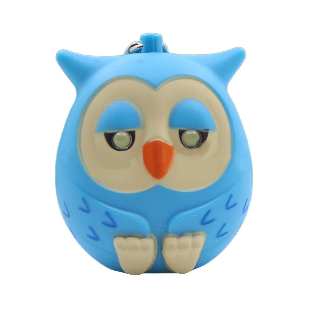 Fashion Cute Owl LED Eye Keychain with Sound Christmas Children Toys Gift