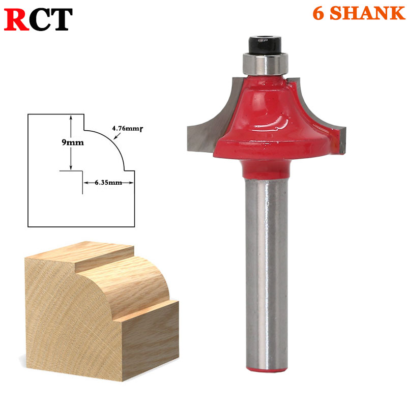 Round Over Beading Edging Router Bit - 3/8 Radius  1pcs 6mm Shank wood router bit 1pc CNC tools solid 2piece 100% new it8573e qfp 128 chipset