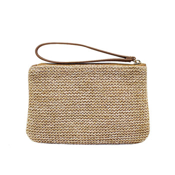 Women Clutch Bags Female INS Popular Summer Beach Straw Bag Lady Travel Mini Messenger Bags Casual Knitted Bolsa Tote SS3133