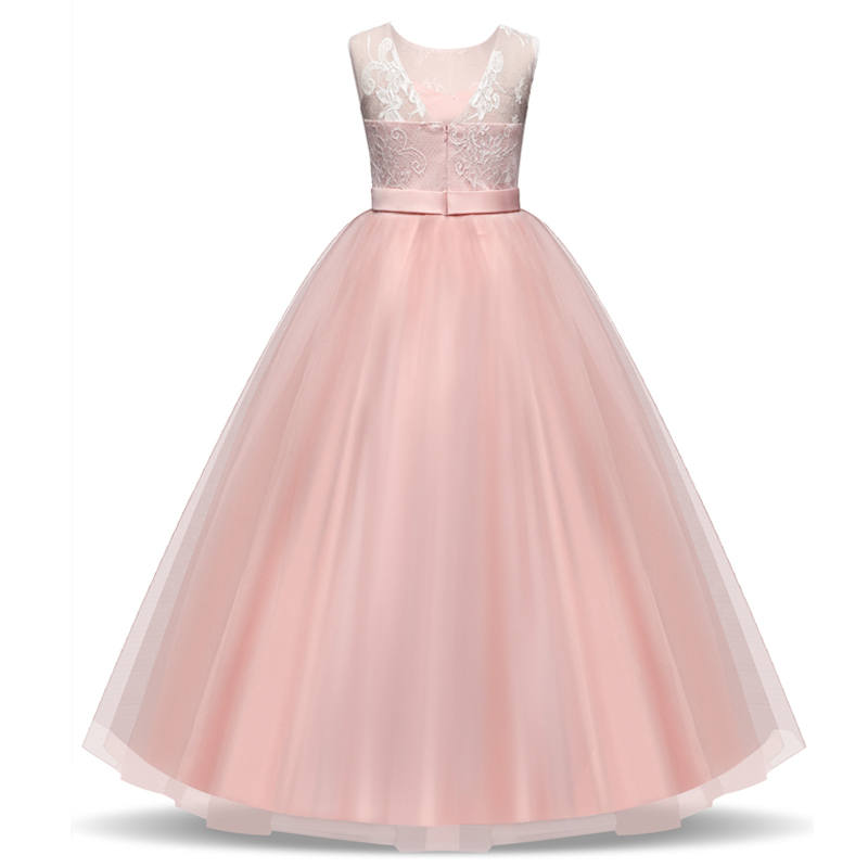 Prom Gown Designs Big Girl Teenagers Evening Dresss Lace Princess Dresses for Girls Clothes Tulle Childrens Costume For Kids