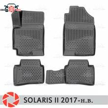 Коврики для hyundai Solaris 2 2017-коврики Нескользящие полиуретановые грязезащитные внутренние аксессуары для стайлинга автомобилей