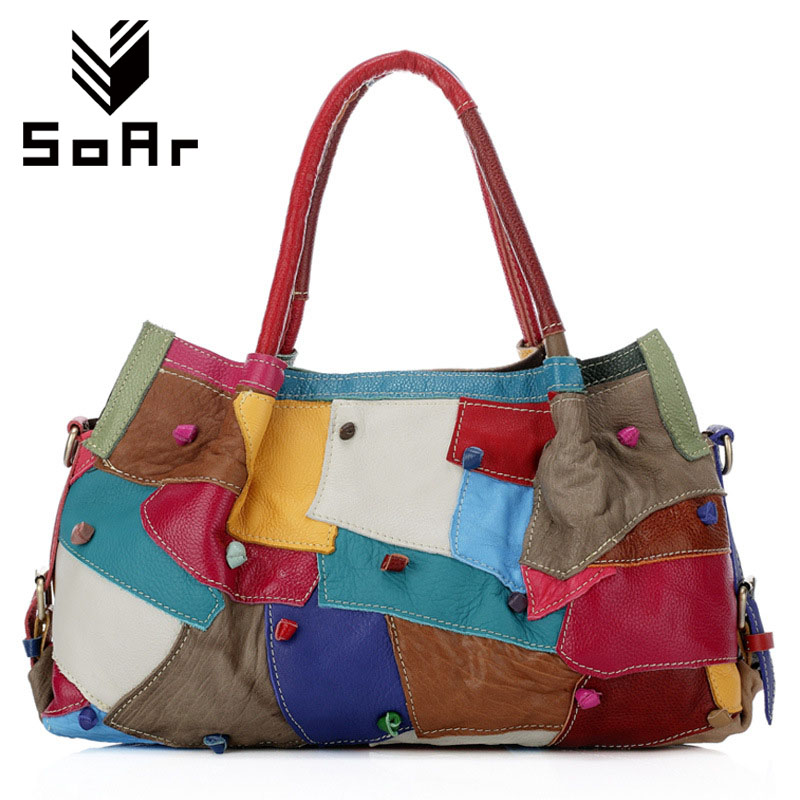 SoAr Bags handbags famous brands genuine leather bags European and American style women messenger bag luxury shoulder bags new 4 2017the mostfashion trends european and american brands genuine flowers ladies luxury short shoes club sexy women s shoes