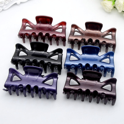 Women Hair Clip  Hairpins Candy Colors Women Hair Crab Hair Claws Women Make UP Washing Tool Hair Accessories  7cm *3.5cm