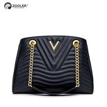Hot&New Genuine leather bags women ZOOLER 2019 luxury brand handbags women bags designer black tote high quality handbags #NT100