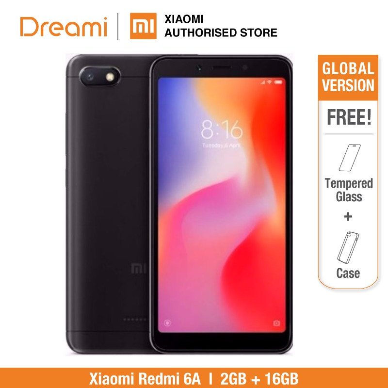 Global Version Xiaomi Redmi 6A 16GB ROM 2GB RAM (Brand New and Sealed)