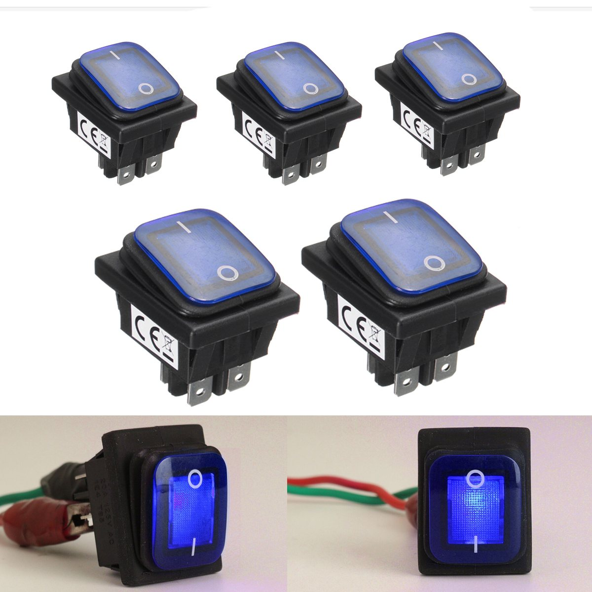 Atv,rv,boat & Other Vehicle Nice Rocker Toggle Switch On-off-on 4 Pins 12v Dc Car Boat Automobiles Waterproof Led Latching Switches Wide Varieties