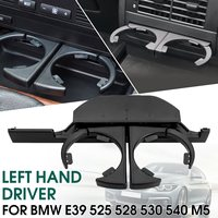 Black Car Console Retractable Drink Cup Holder Front Left Drinks Holder For BMW E39 525 528