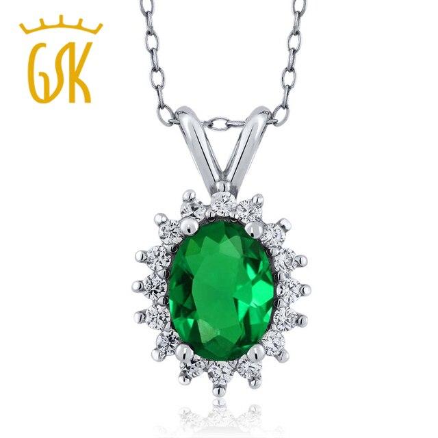Smaragd schmuck  Aliexpress.com : GemStoneKing 1,24 Ct Oval Grün Nano Smaragd ...