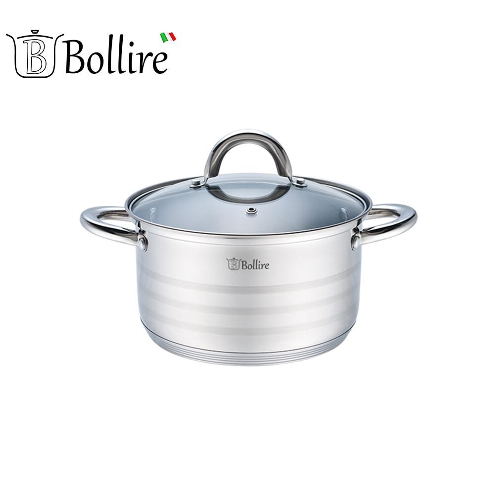 Casseroles BOLLIRE BR-2006 Capsule Bottom Suitable for all types of plates кастрюля bollire br 2203