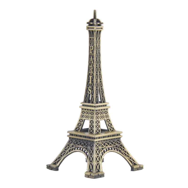 1Pc Paris Tower Model Bronze Tone Decorative Furnishing Article Decoration Vintage Craft Mold Figurine Statue Home Living Decor