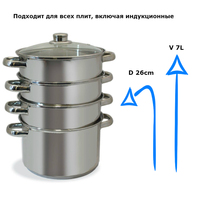 Soup pot 304 Mantovani stainless steel bottom induction cooker universal saucepan with large capacity M 3