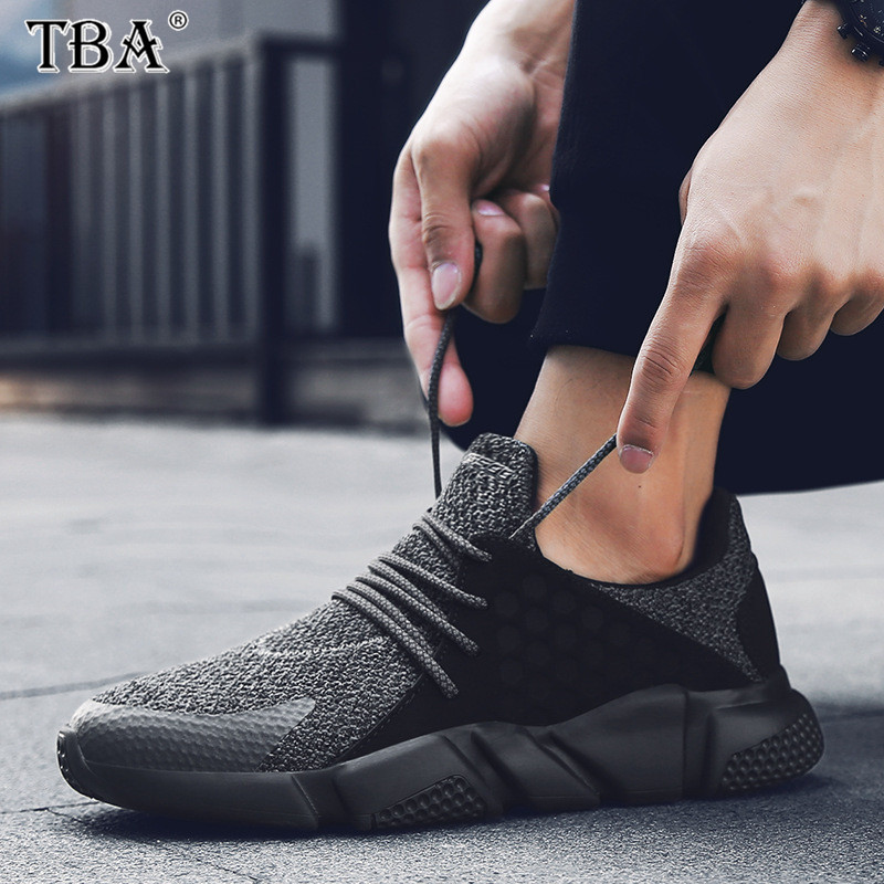TBA 2017 New Sports Running Shoes for Men Non-slip Breathable Lace-up Wide Sole Sneaker Size 39-44