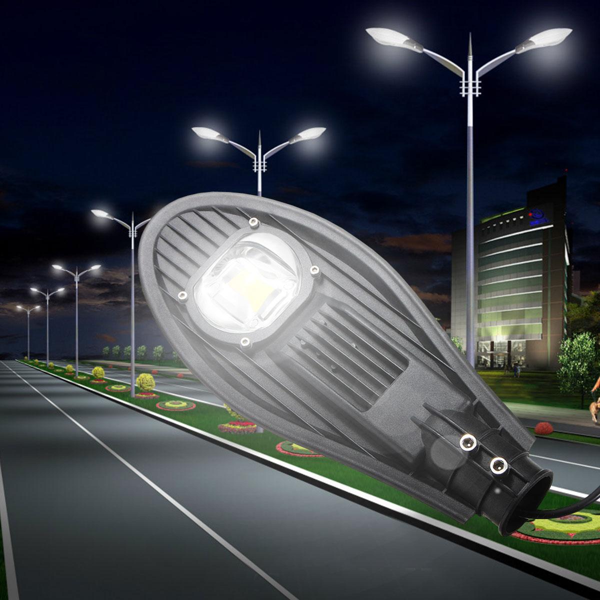 Mising 30W Led Street Light Waterproof IP65 AC85-265V Led Streetlight Road Garden Lamp Warm/Cold White Spotlights Wall Lamp