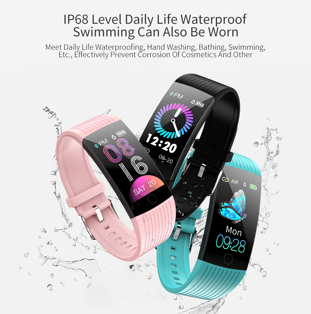 RUNDOING Q18 1.14 inch screen smart band IP68 waterproof smart wristband bracelet Fitness tracker smartband For Android and IOS