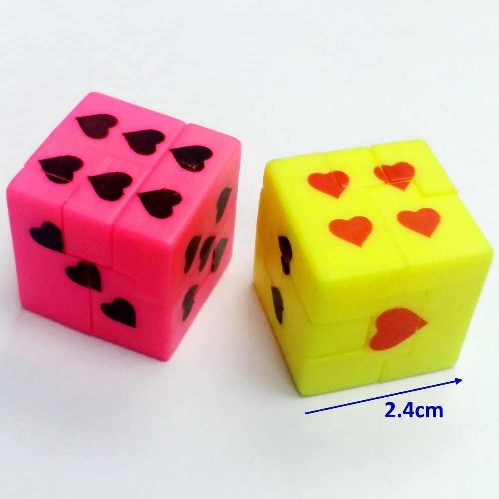 <font><b>2X</b></font> Smart IQ heart dot puzzle Dice <font><b>cube</b></font> brain game 368-1 Pinara Filler Birthday party favors toys gift Bag Novelty Prize Gag image