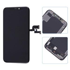 Image 2 - Elekworld sztywne elastyczne OLED AAA jakość testowane działa dobrze LCD dla iPhone XS wyświetlacz LCD 3D ekran dotykowy Digitizer zgromadzenie