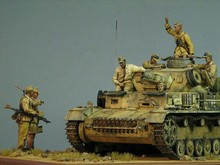 1/35 Resin Figure Model Kit The German tank corps crews take in north Africa, 7 figures(NO TANK)  Unassambled  Unpainted