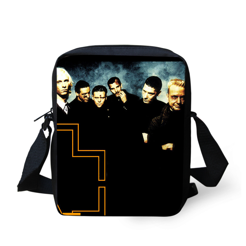 Band Rammstein Printing Shoulder Men Bag Messenger Handbag for Women Cross Body Sac a Main Children School Bags Satchel Mujer (12)