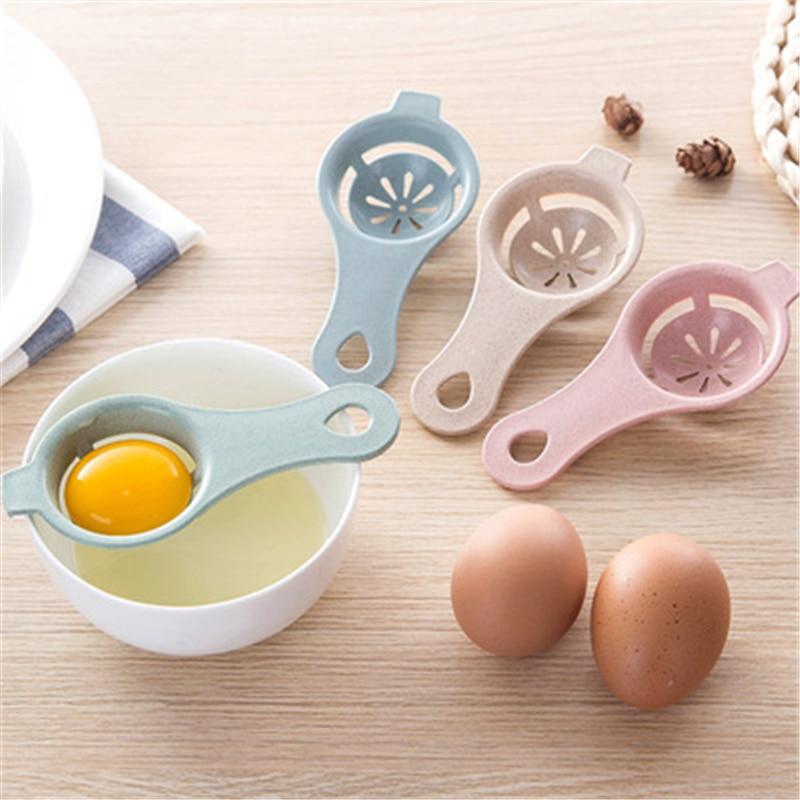 1637 Wheat Straw Yellow  Egg Egg White Separator Filter For Kitchen Gadget