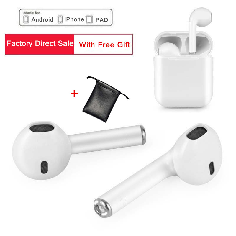 New I7S TWS Earbuds Wireless Bluetooth Earphone Stereo Headphone For iPhone 6 7S Plus SE Sumsung Android Phone Factory Sale