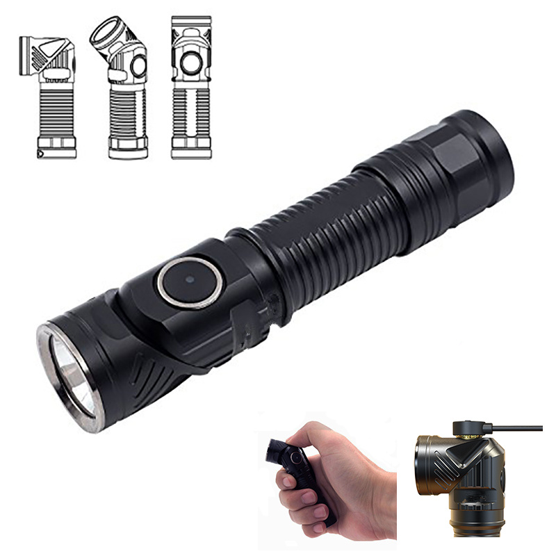 700LM Rechargeable Magnetic Charging Rotation EDC LED Flashlight Lamp Adjustable Outdoor Light Torch Bicycle Head Light rofis r1 16340 r2 14500 r3 18650 mini flashlight cree led adjustable head flashlight magnetic usb torch adjustable head