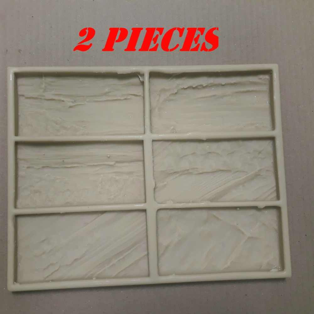2 pieces New Polyurethane Molds model 2019 year for Concrete Plaster Wall Stone Cement Tiles  Decorative wall molds