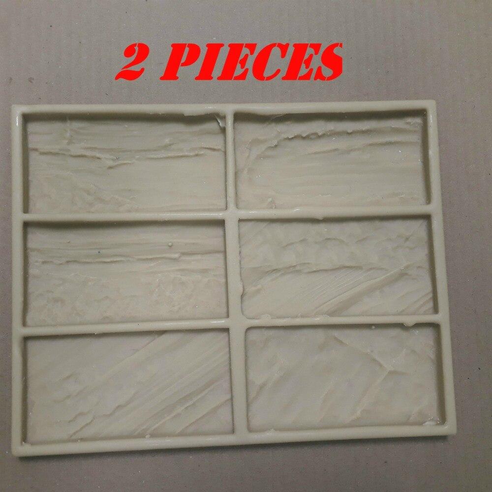 Angemessen 2 Stück Neue Polyurethan Formen Modell 2019 Jahr Für Beton Gips Wand Stein Zement Fliesen Dekorative Wand Formen Feine Verarbeitung