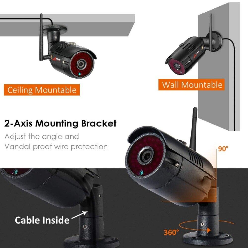 Image 4 - ANRAN 1080P Wireless Security Camera Kit 4CH NVR System Night Vision Outdoor Wifi Surveillance Camera System cctv Video Kit-in Система наблюдения from Безопасность и защита on AliExpress
